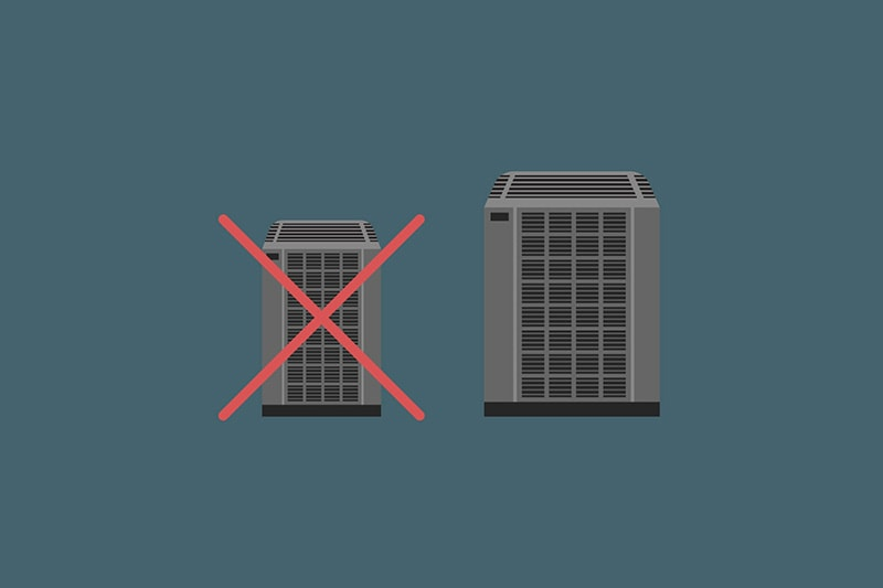 An illustration of two ac units on a gray background, Video - What Are Common Mistakes Made When Purchasing a New AC?