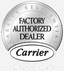 Carrier Factory Authorized Dealer logo.